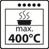 Max. 400 Grad Celsius