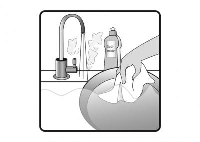 Vor Gebrauch spülen